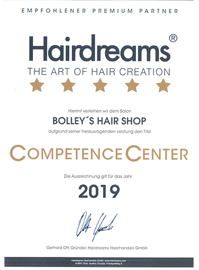 CompetenceCenter 2019 BOLLEY'S HAIR SHOP